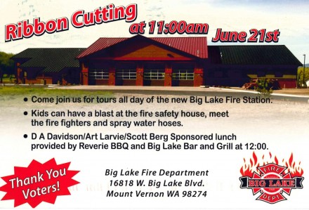 Big Lake Fire Department Ribbon Cutting!