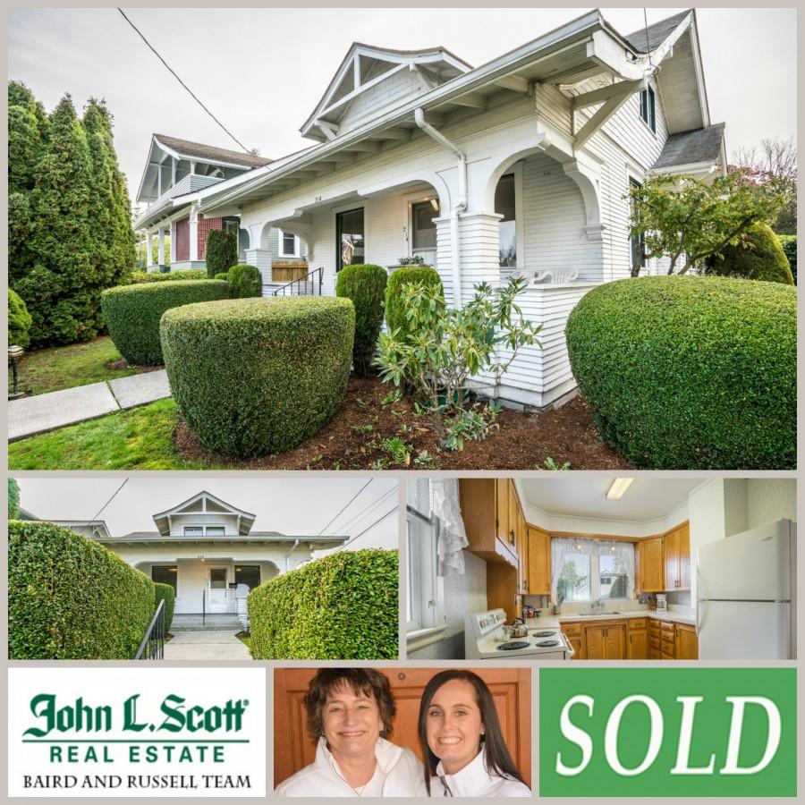 SOLD ~ Mount Vernon WA Home on Hill - 214 Fulton Street, Mount Vernon WA 98273