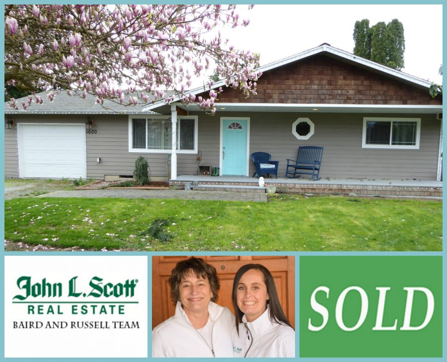 Just SOLD! One Level Burlington WA Home ~ 1600 E Avon Ave, Burlington WA